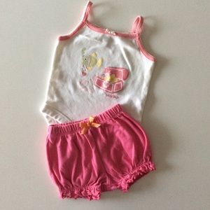 $4 BUNDLED ~ LIKE-NEW Baby girl summer outfit